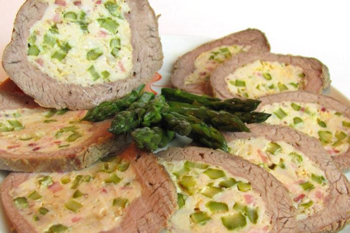 arrosto con asparagi