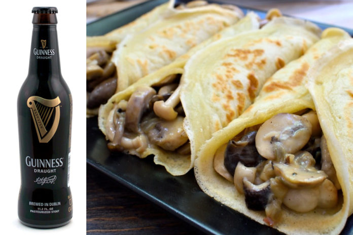 Guinness Crepes funghi