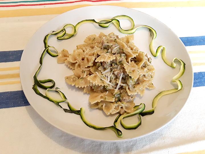 farfalle zucchine e Darkon