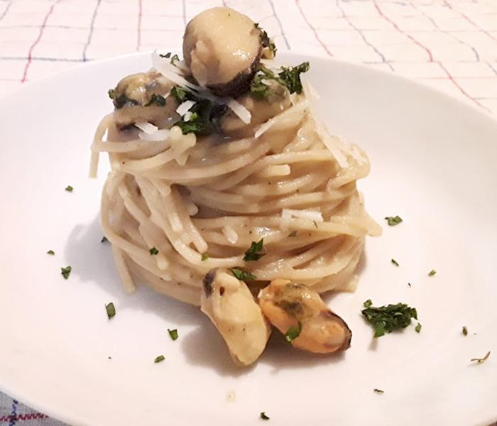 Abbaye de St. Martin Blonde Spaghetti Cozze Impattamento