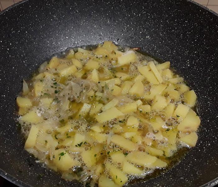Abbaye de St. Martin Blonde spaghetti cozze patate