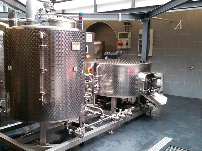 impianto birrificio bahm