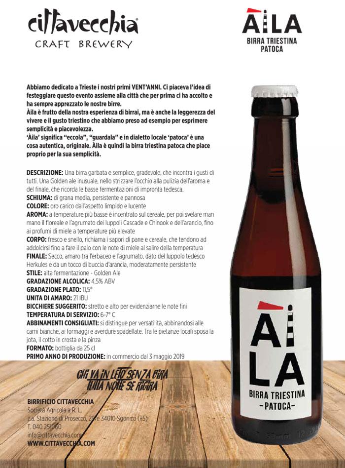 scheda tecnica àila la nuova birra di Cittavecchia