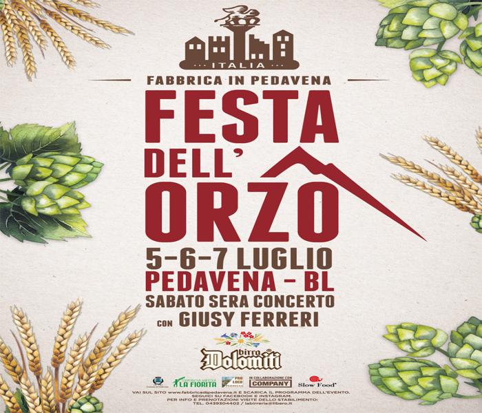 birra pedavena festa dell'orzo 2019