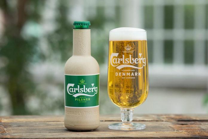 green fiber bottle